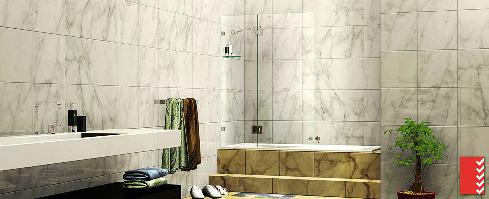 discover the satisfaction of the over bath shower screen