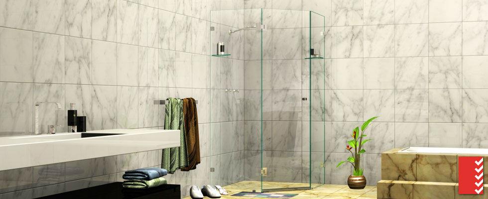 Splay Diamond Shower Screens