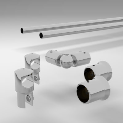Square Corner Shower Rail Supoort Bar System