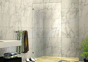 Fixed Partition Shower Screens