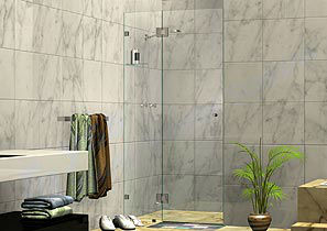 2 Panel Wall to Wall Shower Screens