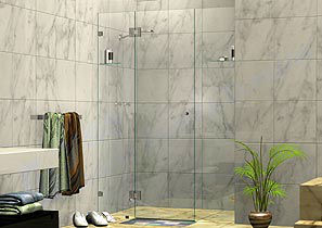 3 Panel Wall to Wall Shower Screens