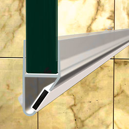 Frameless Shower Screen Water Seal