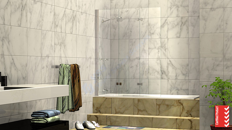 Folding Over Bath Shower Screen