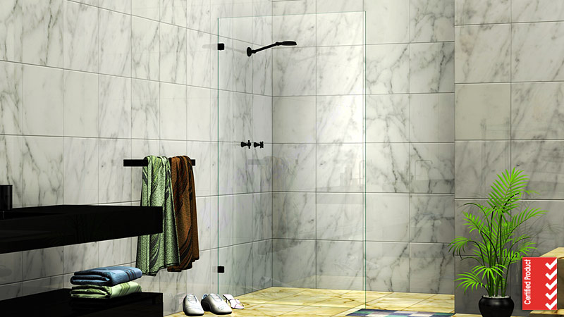 Fixed Panel Walk In Shower Screen