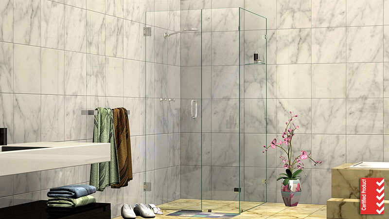 Corner Frameless Shower Screen