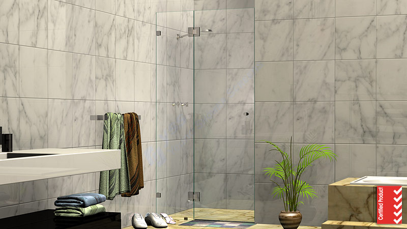 Wall to Wall Frameless Shower Screen
