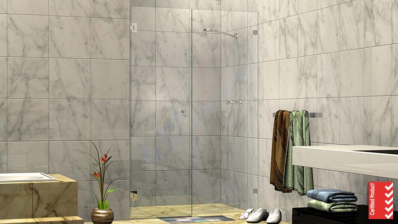 Wall to Wall Frameless Shower Screen