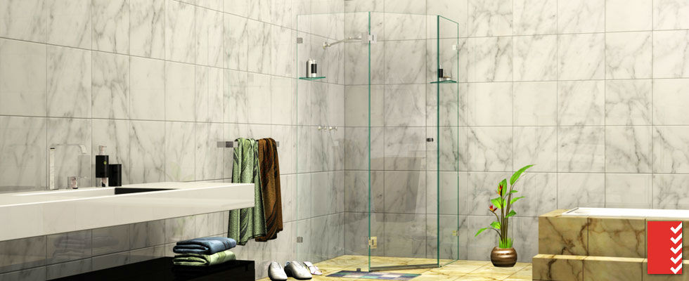 Splay Diamond Shower Screens
