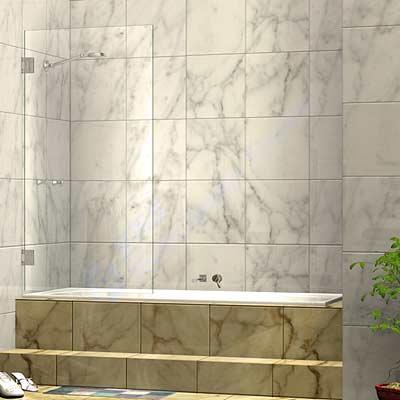 Frameless Single Door Shower Bath Screen