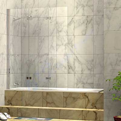 Three Panel Folding Shower Bath Screen