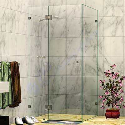 Frameless Corner Shower Screen