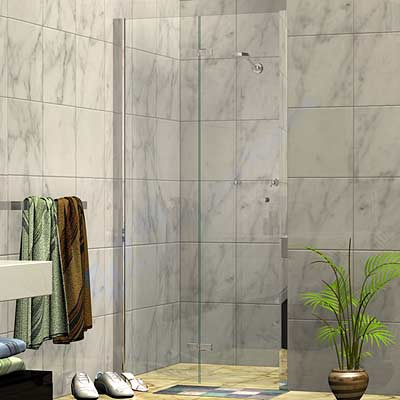 Bi Fold Wall To Wall Shower Screen