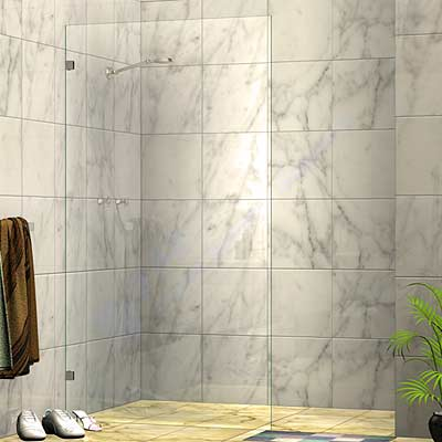 Frameless Single Fixed Panel Walk In Shower Screen