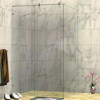 Frameless Corner Sliding Door Shower Screen