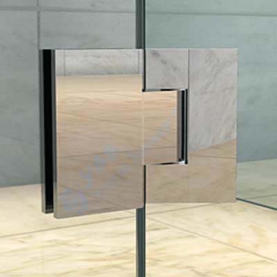Frameless Shower Screen 180-Deg Hinge