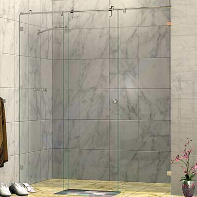 Frameless Three Panel Wall To Wall Sliding Shower Screen
