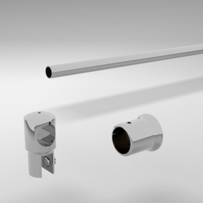 Shower Curtain And Rail Support Bar System