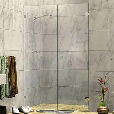 Wall Mount Door Frameless Wall To Wall Shower Screen