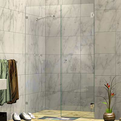 Wall Mount Door Frameless Wall To Wall Shower Screen