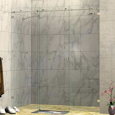Frameless Three Panel Wall To Wall Sliding Shower Screen