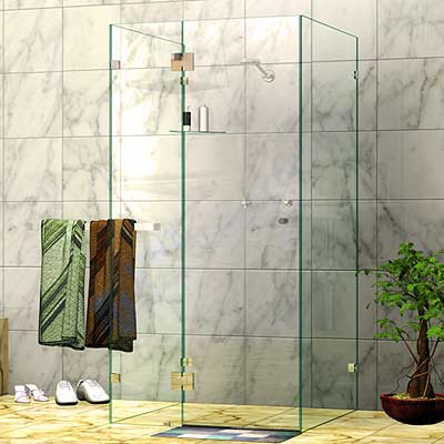 Frameless Four Panel U-Shape Shower Screen